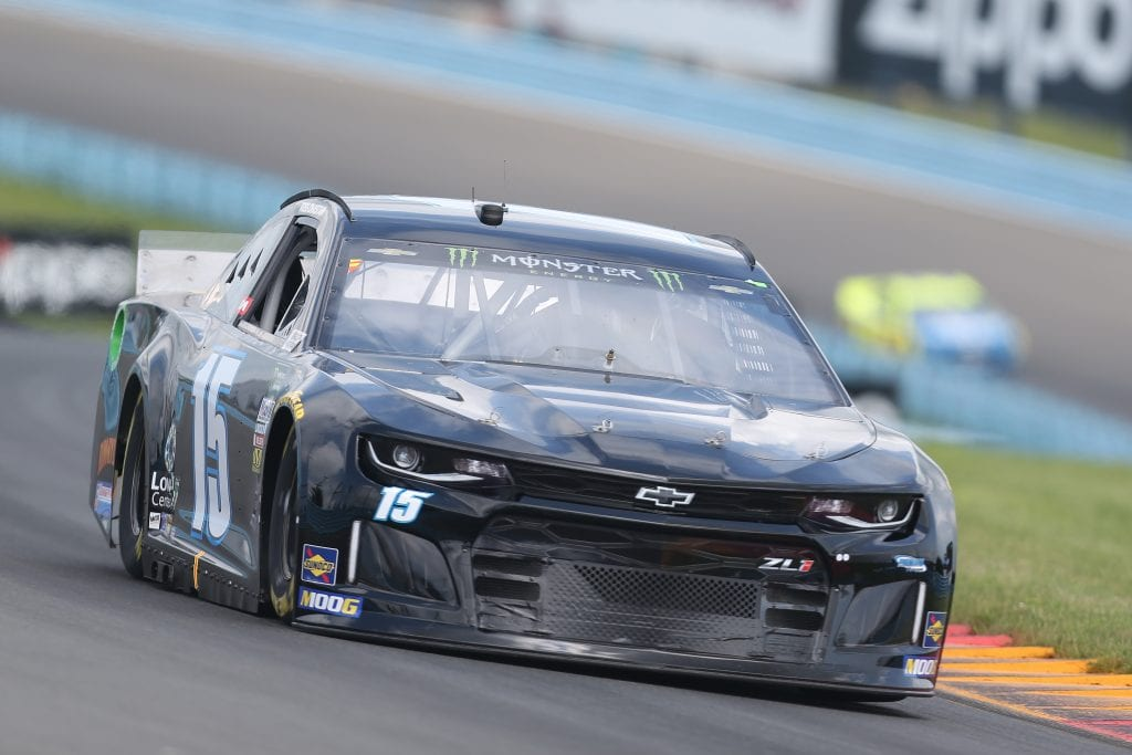 WATKINS GLEN, NEW YORK - AUGUST 03: Ross Chastain, driver of the #15 Chevrolet, drives during practice for the Monster Energy NASCAR Cup Series Go Bowling at The Glen at Watkins Glen International on August 03, 2019 in Watkins Glen, New York. (Photo by Matt Sullivan/Getty Images) | Getty Images
