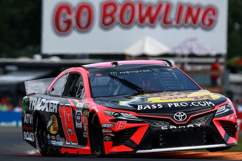 WATKINS GLEN, NEW YORK - AUGUST 03: Martin Truex Jr, driver of the #19 Bass Pro Shops Toyota, practices for the Monster Energy NASCAR Cup Series Go Bowling at The Glen at Watkins Glen International on August 03, 2019 in Watkins Glen, New York. (Photo by Sean Gardner/Getty Images) | Getty Images