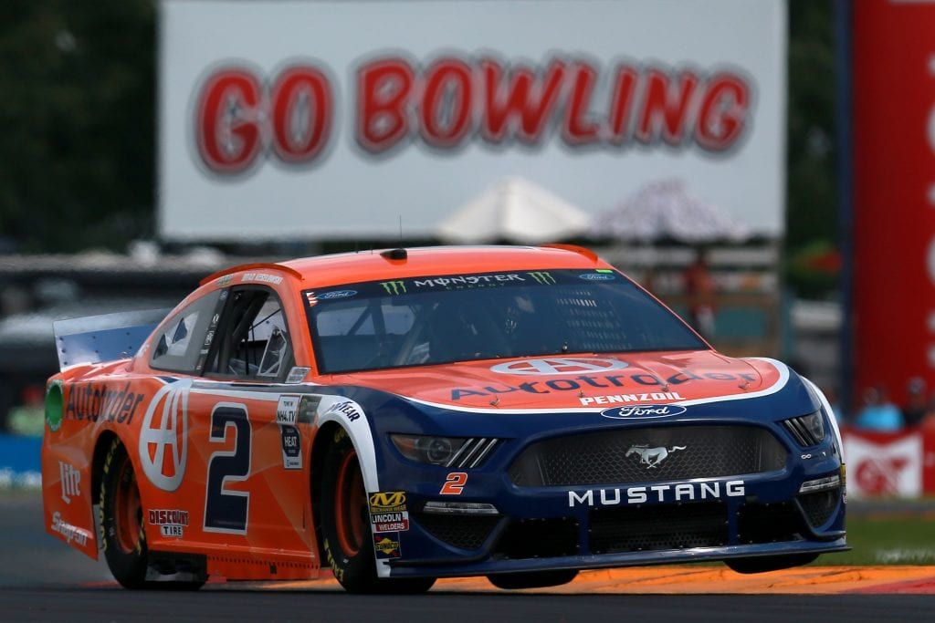 WATKINS GLEN, NEW YORK - AUGUST 03: Brad Keselowski, driver of the #2 Autotrader Ford, practices for the Monster Energy NASCAR Cup Series Go Bowling at The Glen at Watkins Glen International on August 03, 2019 in Watkins Glen, New York. (Photo by Sean Gardner/Getty Images) | Getty Images