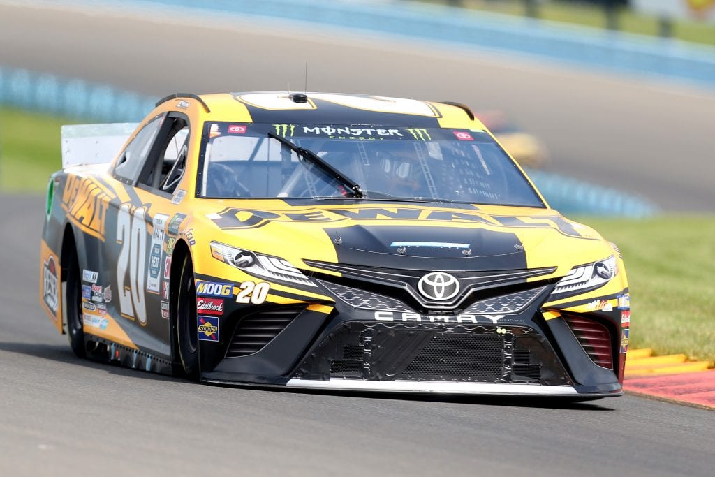 WATKINS GLEN, NEW YORK - AUGUST 03: Erik Jones, driver of the #20 DeWalt Toyota, drives during practice for the Monster Energy NASCAR Cup Series Go Bowling at The Glen at Watkins Glen International on August 03, 2019 in Watkins Glen, New York. (Photo by Matt Sullivan/Getty Images) | Getty Images