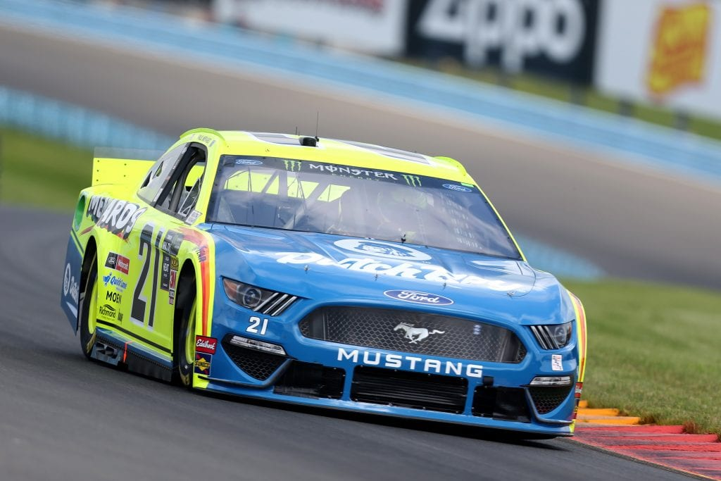 WATKINS GLEN, NEW YORK - AUGUST 03: Paul Menard, driver of the #21 Menards/Dutch Boy Ford, drives during practice for the Monster Energy NASCAR Cup Series Go Bowling at The Glen at Watkins Glen International on August 03, 2019 in Watkins Glen, New York. (Photo by Matt Sullivan/Getty Images) | Getty Images