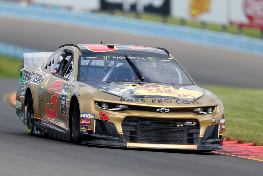 WATKINS GLEN, NEW YORK - AUGUST 03: Austin Dillon, driver of the #3 Bass Pro Shops Chevrolet, drives during practice for the Monster Energy NASCAR Cup Series Go Bowling at The Glen at Watkins Glen International on August 03, 2019 in Watkins Glen, New York. (Photo by Matt Sullivan/Getty Images) | Getty Images