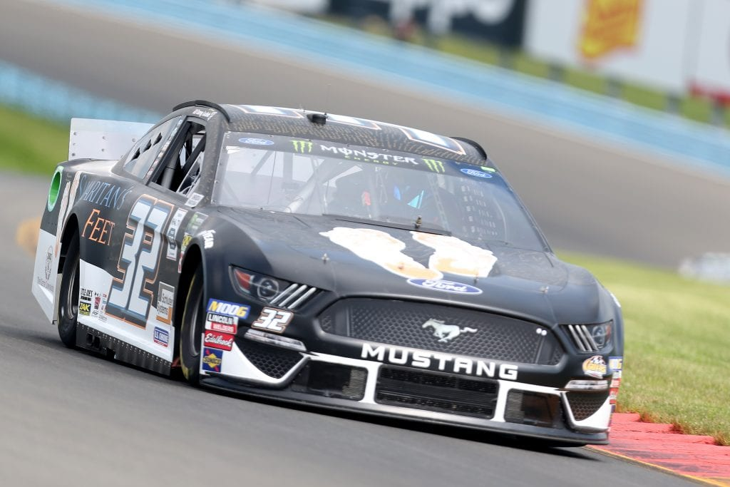WATKINS GLEN, NEW YORK - AUGUST 03: Corey LaJoie, driver of the #32 Samaritan?s Feet Ford, drives during practice for the Monster Energy NASCAR Cup Series Go Bowling at The Glen at Watkins Glen International on August 03, 2019 in Watkins Glen, New York. (Photo by Matt Sullivan/Getty Images) | Getty Images