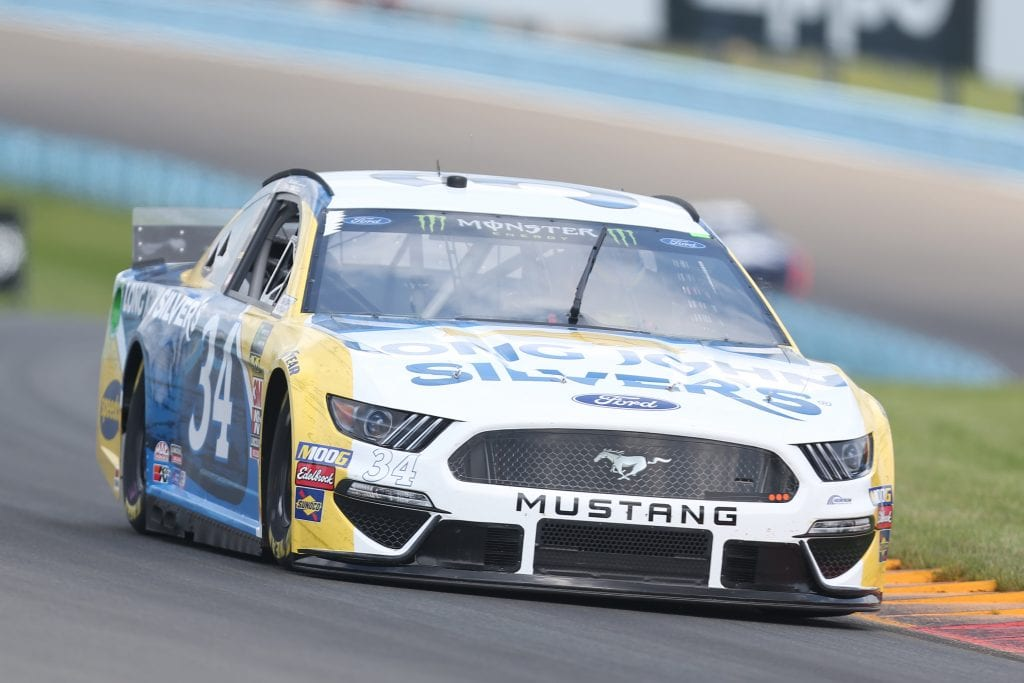 WATKINS GLEN, NEW YORK - AUGUST 03: Michael McDowell, driver of the #34 Long John Silver's Ford, drives during practice for the Monster Energy NASCAR Cup Series Go Bowling at The Glen at Watkins Glen International on August 03, 2019 in Watkins Glen, New York. (Photo by Matt Sullivan/Getty Images) | Getty Images