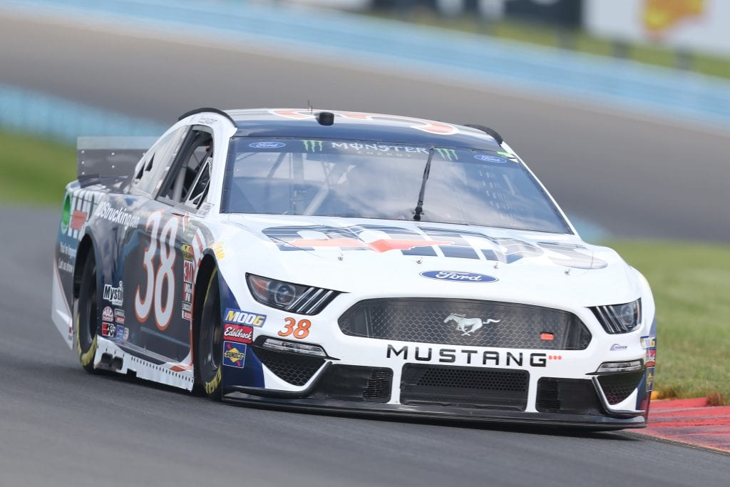 WATKINS GLEN, NEW YORK - AUGUST 03: David Ragan, driver of the #38 MDS Transport Ford, drives during practice for the Monster Energy NASCAR Cup Series Go Bowling at The Glen at Watkins Glen International on August 03, 2019 in Watkins Glen, New York. (Photo by Matt Sullivan/Getty Images) | Getty Images