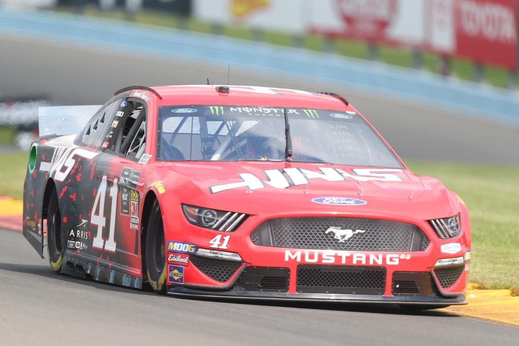 WATKINS GLEN, NEW YORK - AUGUST 03: Daniel Suarez, driver of the #41 Haas Automation Ford, drives during practice for the Monster Energy NASCAR Cup Series Go Bowling at The Glen at Watkins Glen International on August 03, 2019 in Watkins Glen, New York. (Photo by Matt Sullivan/Getty Images) | Getty Images