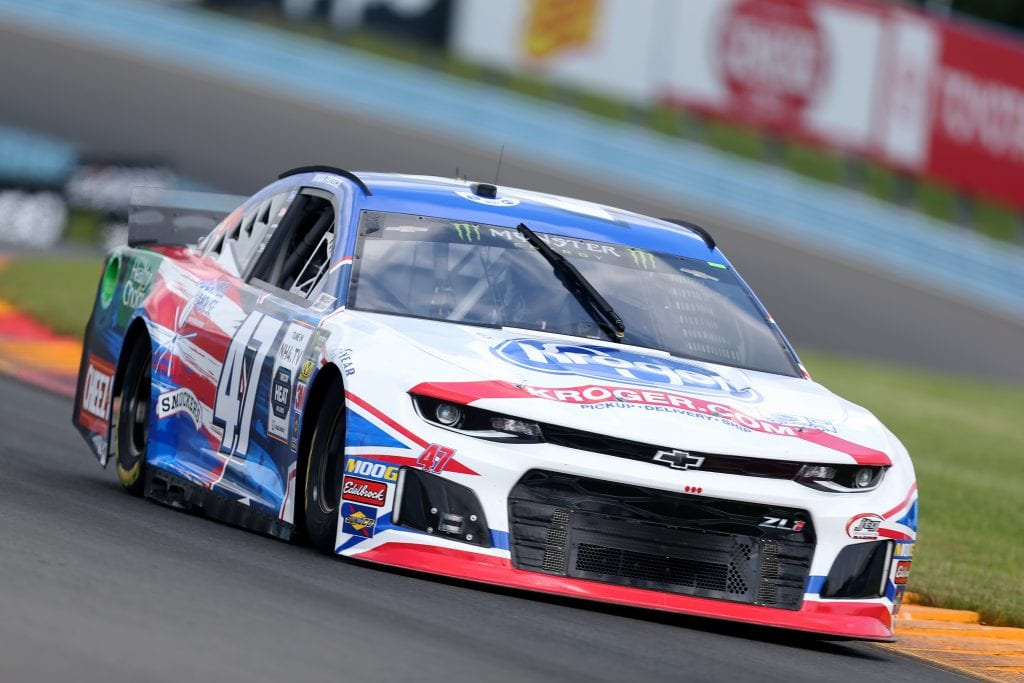 WATKINS GLEN, NEW YORK - AUGUST 03: Ryan Preece, driver of the #47 Kroger Chevrolet, drives during practice for the Monster Energy NASCAR Cup Series Go Bowling at The Glen at Watkins Glen International on August 03, 2019 in Watkins Glen, New York. (Photo by Matt Sullivan/Getty Images) | Getty Images