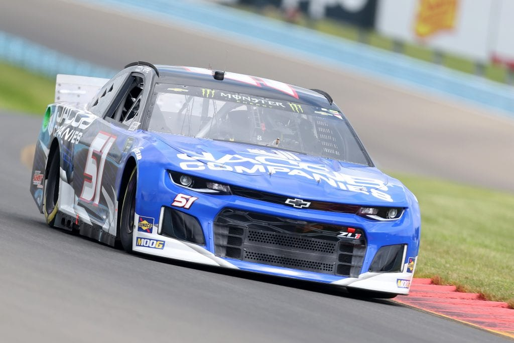 WATKINS GLEN, NEW YORK - AUGUST 03: Cody Ware, driver of the #51 JACOB COMPANIES Chevrolet, drives during practice for the Monster Energy NASCAR Cup Series Go Bowling at The Glen at Watkins Glen International on August 03, 2019 in Watkins Glen, New York. (Photo by Matt Sullivan/Getty Images) | Getty Images