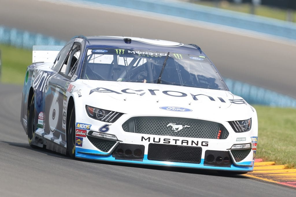 WATKINS GLEN, NEW YORK - AUGUST 03: Ryan Newman, driver of the #6 Acronis Ford, drives during practice for the Monster Energy NASCAR Cup Series Go Bowling at The Glen at Watkins Glen International on August 03, 2019 in Watkins Glen, New York. (Photo by Matt Sullivan/Getty Images) | Getty Images