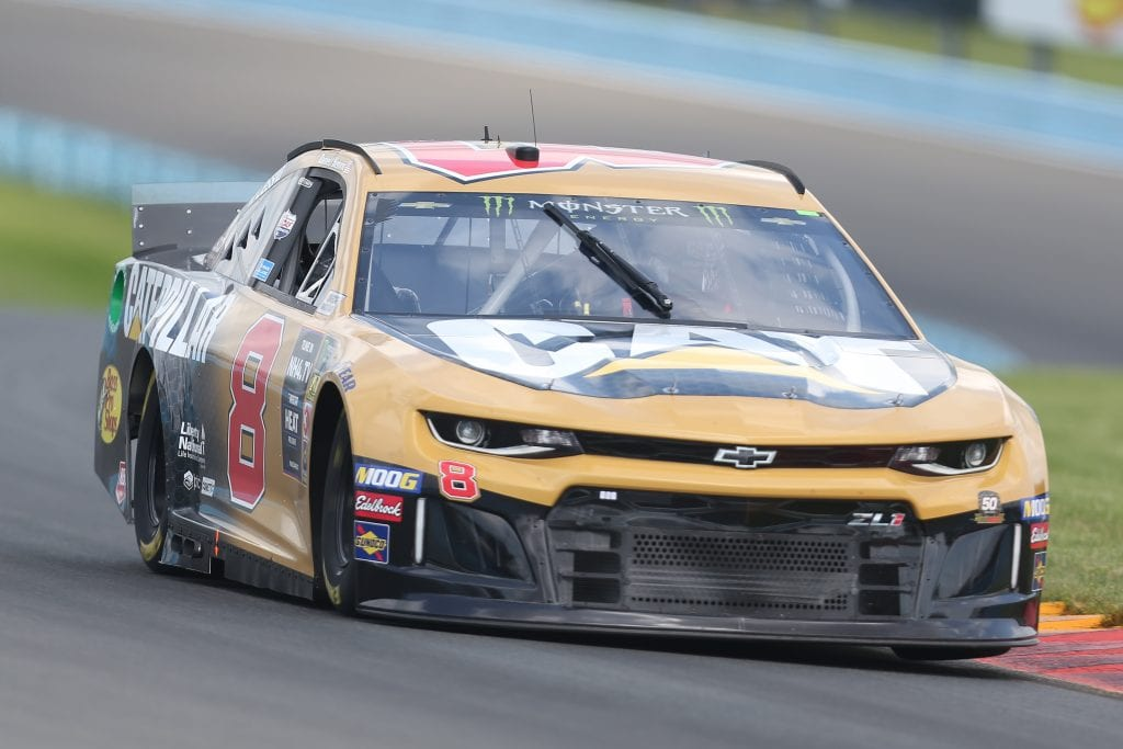 WATKINS GLEN, NEW YORK - AUGUST 03: Daniel Hemric, driver of the #8 Caterpillar Chevrolet, drives during practice for the Monster Energy NASCAR Cup Series Go Bowling at The Glen at Watkins Glen International on August 03, 2019 in Watkins Glen, New York. (Photo by Matt Sullivan/Getty Images) | Getty Images