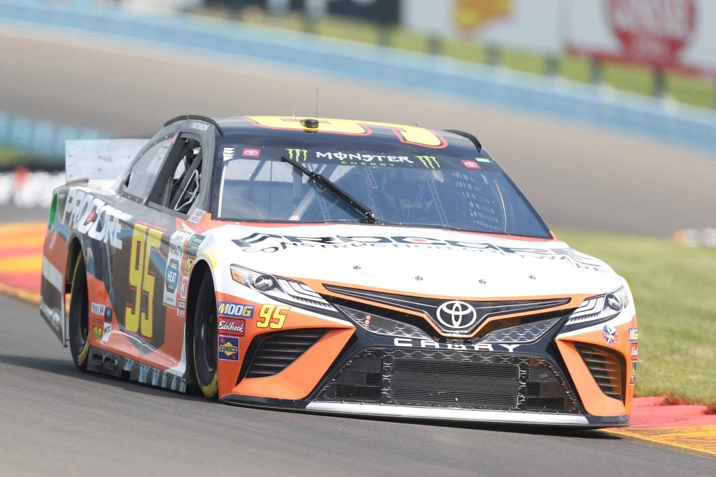 WATKINS GLEN, NEW YORK - AUGUST 03: Matt DiBenedetto, driver of the #95 Procore Toyota, drives during practice for the Monster Energy NASCAR Cup Series Go Bowling at The Glen at Watkins Glen International on August 03, 2019 in Watkins Glen, New York. (Photo by Matt Sullivan/Getty Images) | Getty Images