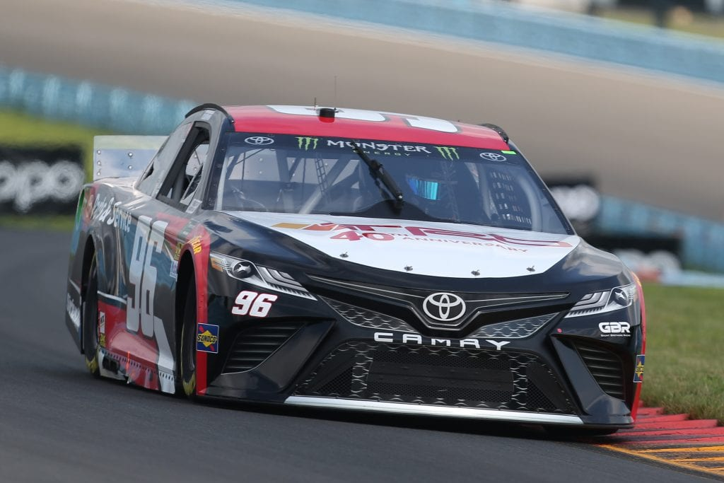 WATKINS GLEN, NEW YORK - AUGUST 03: Parker Kligerman, driver of the #96 TRD 40th Anniversary Toyota, drives during practice for the Monster Energy NASCAR Cup Series Go Bowling at The Glen at Watkins Glen International on August 03, 2019 in Watkins Glen, New York. (Photo by Matt Sullivan/Getty Images) | Getty Images