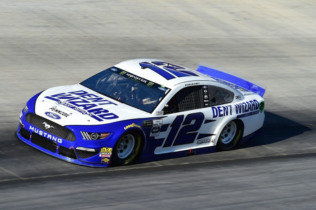 BRISTOL, TENNESSEE - AUGUST 16: Ryan Blaney, driver of the #12 Dent Wizard Ford, qualifies for the Monster Energy NASCAR Cup Series Bass Pro Shops NRA Night Race at Bristol Motor Speedway on August 16, 2019 in Bristol, Tennessee. (Photo by Jared C. Tilton/Getty Images) | Getty Images