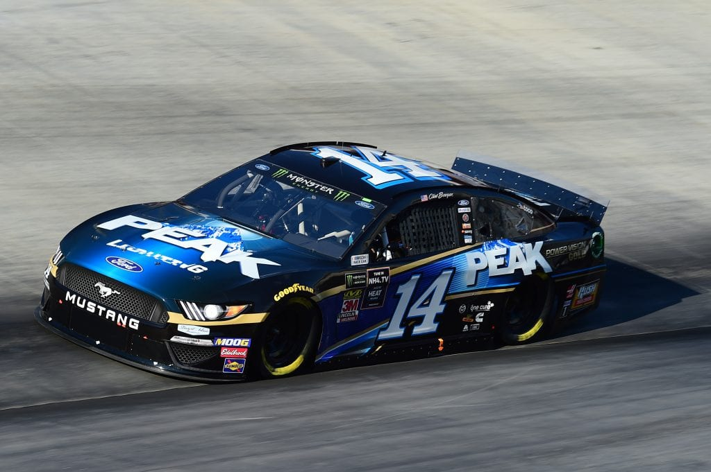 BRISTOL, TENNESSEE - AUGUST 16: Clint Bowyer, driver of the #14 Peak Lighting Ford, qualifies for the Monster Energy NASCAR Cup Series Bass Pro Shops NRA Night Race at Bristol Motor Speedway on August 16, 2019 in Bristol, Tennessee. (Photo by Jared C. Tilton/Getty Images) | Getty Images
