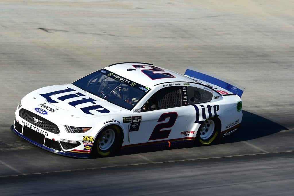 BRISTOL, TENNESSEE - AUGUST 16: Brad Keselowski, driver of the #2 Miller Lite Ford, qualifies for the Monster Energy NASCAR Cup Series Bass Pro Shops NRA Night Race at Bristol Motor Speedway on August 16, 2019 in Bristol, Tennessee. (Photo by Jared C. Tilton/Getty Images) | Getty Images