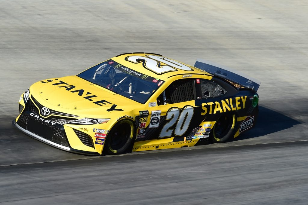 BRISTOL, TENNESSEE - AUGUST 16: Erik Jones, driver of the #20 STANLEY Toyota, qualifies for the Monster Energy NASCAR Cup Series Bass Pro Shops NRA Night Race at Bristol Motor Speedway on August 16, 2019 in Bristol, Tennessee. (Photo by Jared C. Tilton/Getty Images) | Getty Images