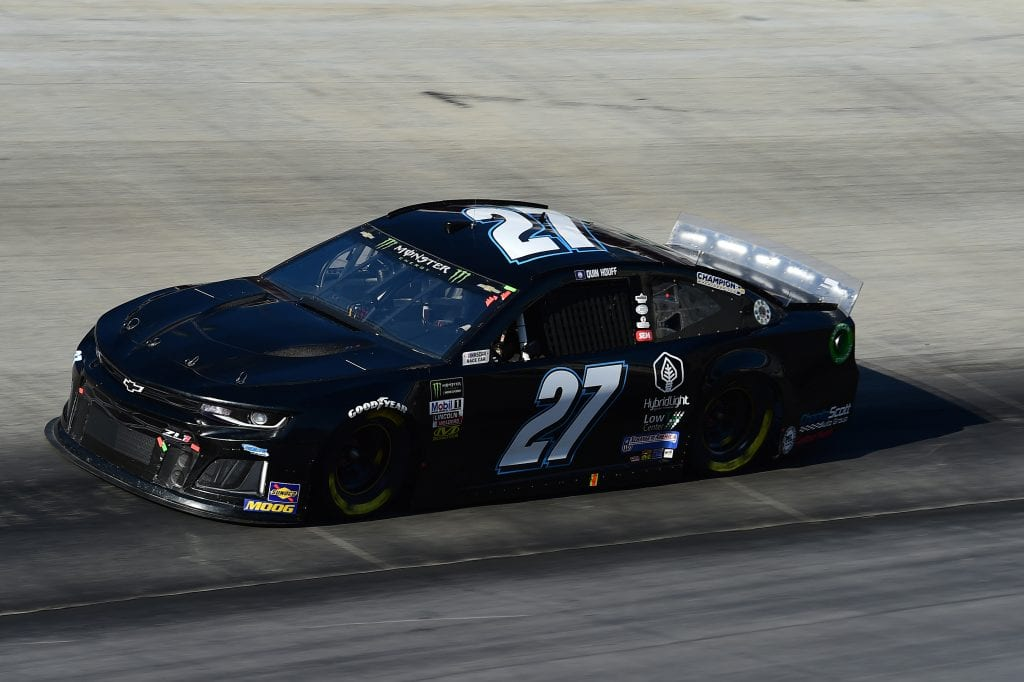 BRISTOL, TENNESSEE - AUGUST 16: Quin Houff, driver of the #27 Chevrolet, qualifies for the Monster Energy NASCAR Cup Series Bass Pro Shops NRA Night Race at Bristol Motor Speedway on August 16, 2019 in Bristol, Tennessee. (Photo by Jared C. Tilton/Getty Images) | Getty Images