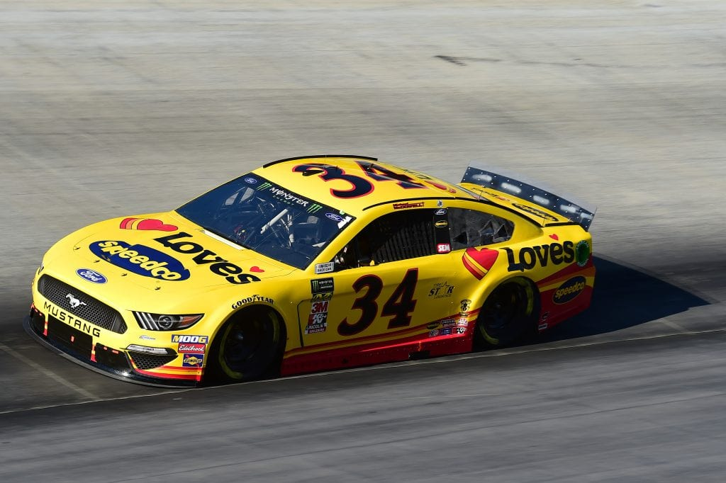 BRISTOL, TENNESSEE - AUGUST 16: Michael McDowell, driver of the #34 Love's Travel Stops Ford, qualifies for the Monster Energy NASCAR Cup Series Bass Pro Shops NRA Night Race at Bristol Motor Speedway on August 16, 2019 in Bristol, Tennessee. (Photo by Jared C. Tilton/Getty Images) | Getty Images