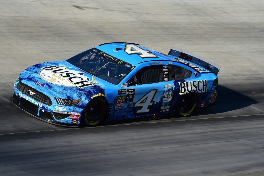 BRISTOL, TENNESSEE - AUGUST 16: Kevin Harvick, driver of the #4 Busch Beer Ford, qualifies for the Monster Energy NASCAR Cup Series Bass Pro Shops NRA Night Race at Bristol Motor Speedway on August 16, 2019 in Bristol, Tennessee. (Photo by Jared C. Tilton/Getty Images) | Getty Images