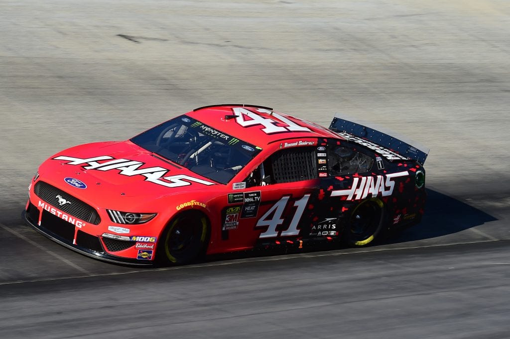 BRISTOL, TENNESSEE - AUGUST 16: Daniel Suarez, driver of the #41 Haas Automation Ford, qualifies for the Monster Energy NASCAR Cup Series Bass Pro Shops NRA Night Race at Bristol Motor Speedway on August 16, 2019 in Bristol, Tennessee. (Photo by Jared C. Tilton/Getty Images) | Getty Images