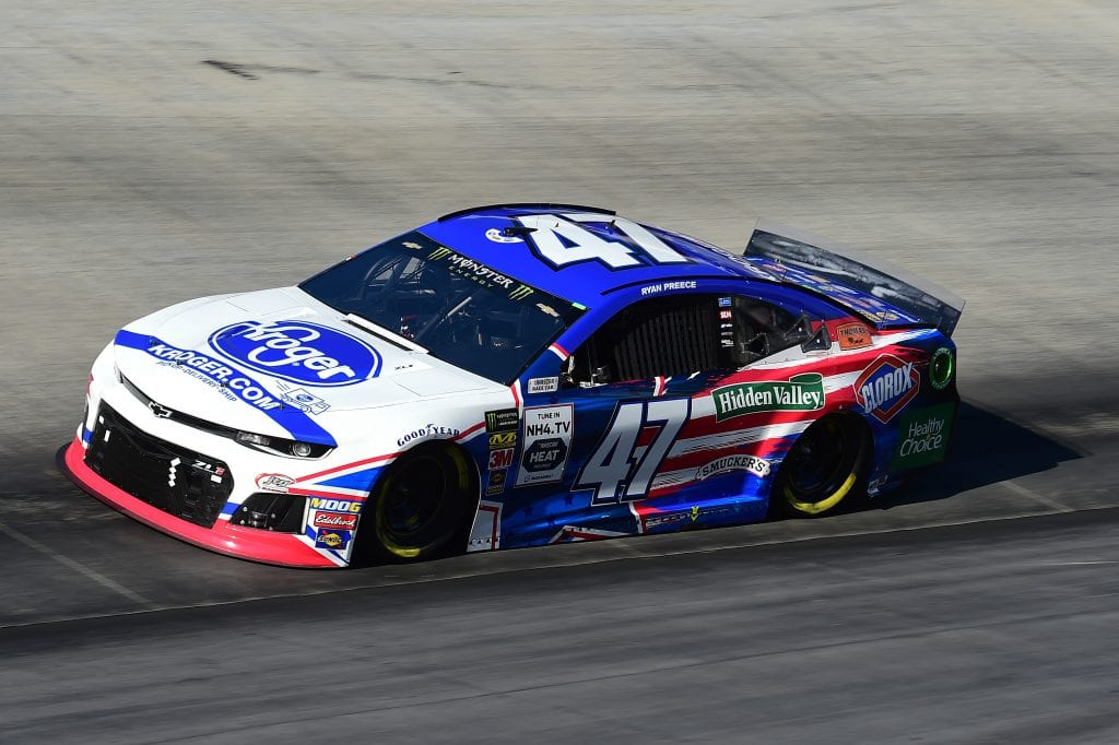 BRISTOL, TENNESSEE - AUGUST 16: Ryan Preece, driver of the #47 Kroger Chevrolet, qualifies for the Monster Energy NASCAR Cup Series Bass Pro Shops NRA Night Race at Bristol Motor Speedway on August 16, 2019 in Bristol, Tennessee. (Photo by Jared C. Tilton/Getty Images) | Getty Images