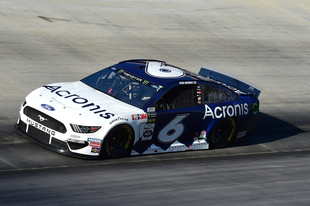 BRISTOL, TENNESSEE - AUGUST 16: Ryan Newman, driver of the #6 Acronis Ford, qualifies for the Monster Energy NASCAR Cup Series Bass Pro Shops NRA Night Race at Bristol Motor Speedway on August 16, 2019 in Bristol, Tennessee. (Photo by Jared C. Tilton/Getty Images) | Getty Images