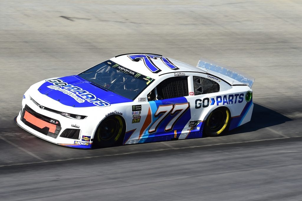 BRISTOL, TENNESSEE - AUGUST 16: Reed Sorenson, driver of the #77 Go-Parts.com Chevrolet, qualifies for the Monster Energy NASCAR Cup Series Bass Pro Shops NRA Night Race at Bristol Motor Speedway on August 16, 2019 in Bristol, Tennessee. (Photo by Jared C. Tilton/Getty Images) | Getty Images