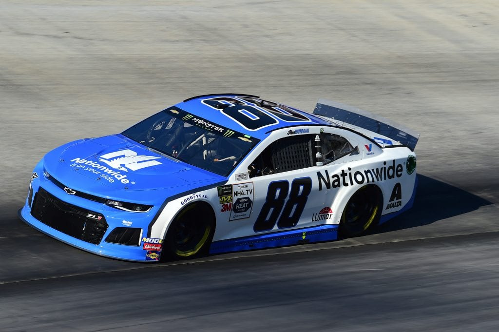BRISTOL, TENNESSEE - AUGUST 16: Alex Bowman, driver of the #88 Nationwide Chevrolet, qualifies for the Monster Energy NASCAR Cup Series Bass Pro Shops NRA Night Race at Bristol Motor Speedway on August 16, 2019 in Bristol, Tennessee. (Photo by Jared C. Tilton/Getty Images) | Getty Images