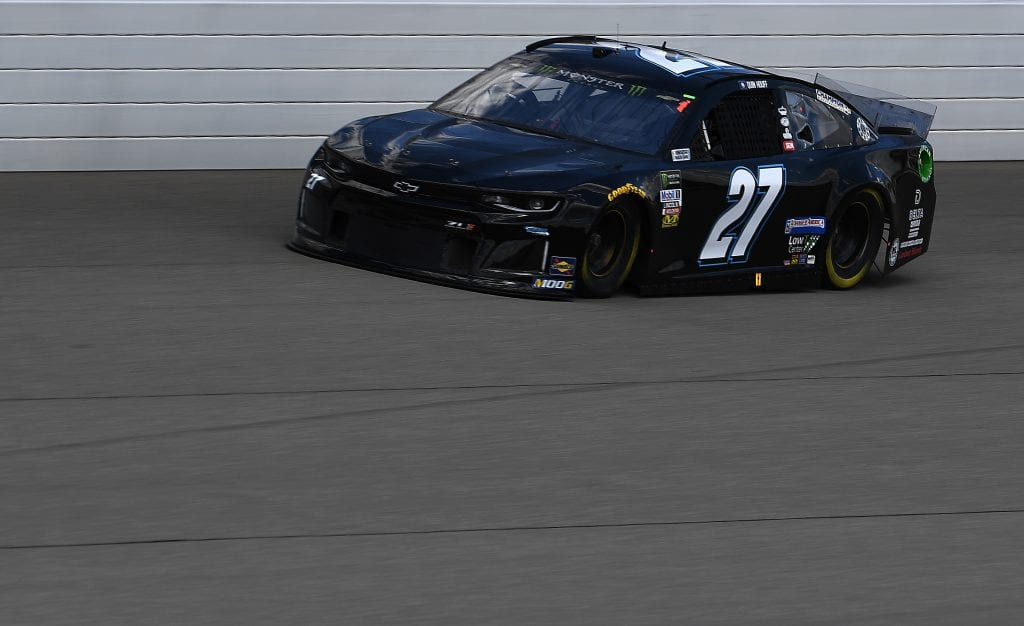 BROOKLYN, MICHIGAN - AUGUST 09: Quin Houff, driver of the #27 Chevrolet, drives during practice for the Monster Energy NASCAR Cup Series Consumers Energy 400 at Michigan International Speedway on August 09, 2019 in Brooklyn, Michigan. (Photo by Stacy Revere/Getty Images) | Getty Images
