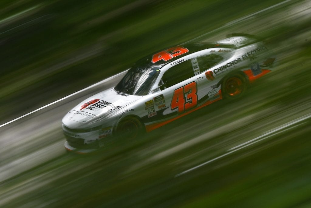 ELKHART LAKE, WISCONSIN - AUGUST 23:  Preston Pardus, driver of the #43 Chincor Electric Chevrolet, drives during practice for the NASCAR Xfinity Series CTECH Manufacturing 180 at Road America on August 23, 2019 in Elkhart Lake, Wisconsin. (Photo by Stacy Revere/Getty Images) | Getty Images
