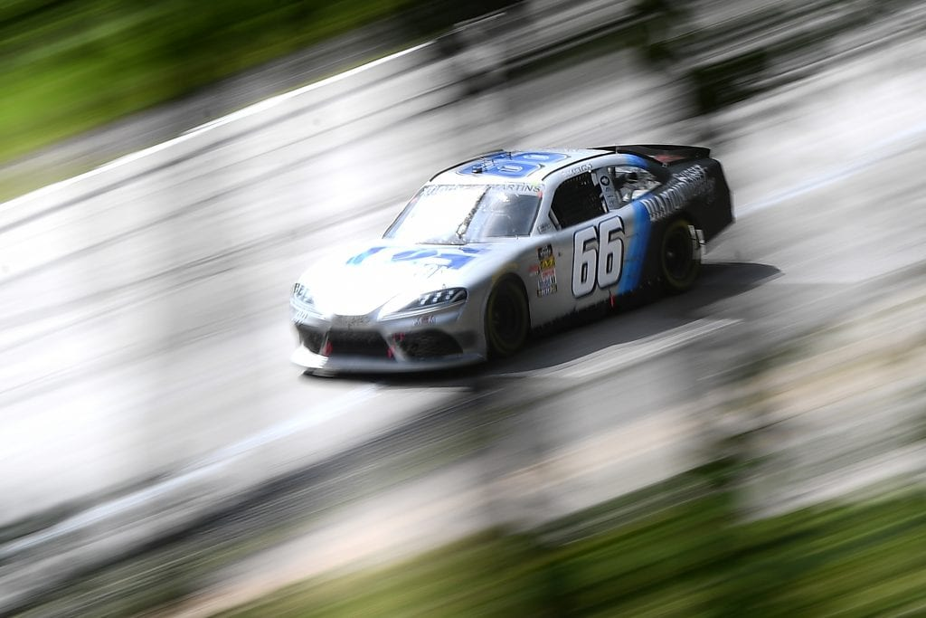 ELKHART LAKE, WISCONSIN - AUGUST 23: Tommy Joe Martins, driver of the #66 Gusset.com Toyota, drives during practice for the NASCAR Xfinity Series CTECH Manufacturing 180 at Road America on August 23, 2019 in Elkhart Lake, Wisconsin. (Photo by Stacy Revere/Getty Images) | Getty Images