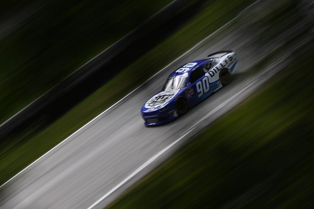 ELKHART LAKE, WISCONSIN - AUGUST 23: Dexter Bean, driver of the #90 Thetford Chevrolet, drives during practice for the NASCAR Xfinity Series CTECH Manufacturing 180 at Road America on August 23, 2019 in Elkhart Lake, Wisconsin. (Photo by Stacy Revere/Getty Images) | Getty Images