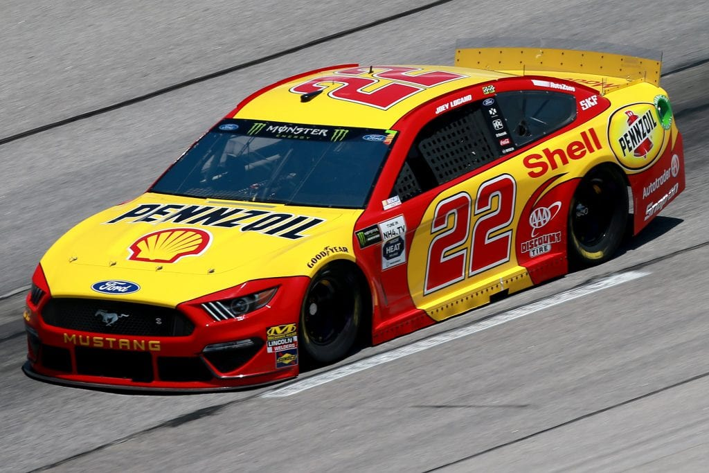 DARLINGTON, SOUTH CAROLINA - AUGUST 30: Joey Logano, driver of the #22 Shell Pennzoil Ford, practices for the Monster Energy NASCAR Cup Series Bojangles' Southern 500 at Darlington Raceway on August 30, 2019 in Darlington, South Carolina. (Photo by Sean Gardner/Getty Images) | Getty Images