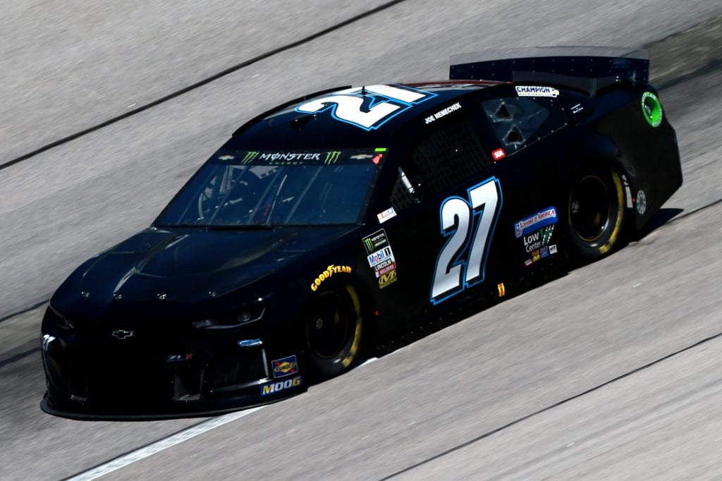 DARLINGTON, SOUTH CAROLINA - AUGUST 30: Joe Nemechek, driver of the #27 Chevrolet, practices for the Monster Energy NASCAR Cup Series Bojangles' Southern 500 at Darlington Raceway on August 30, 2019 in Darlington, South Carolina. (Photo by Sean Gardner/Getty Images) | Getty Images