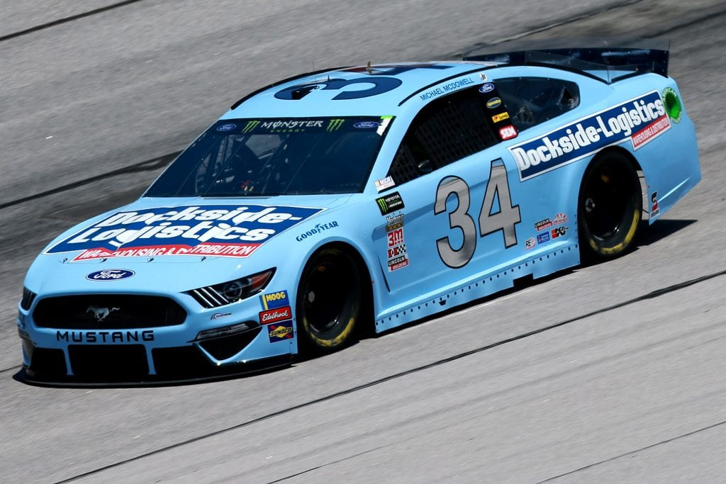 DARLINGTON, SOUTH CAROLINA - AUGUST 30: Michael McDowell, driver of the #34 Dockside Logistics Ford, practices for the Monster Energy NASCAR Cup Series Bojangles' Southern 500 at Darlington Raceway on August 30, 2019 in Darlington, South Carolina. (Photo by Sean Gardner/Getty Images) | Getty Images