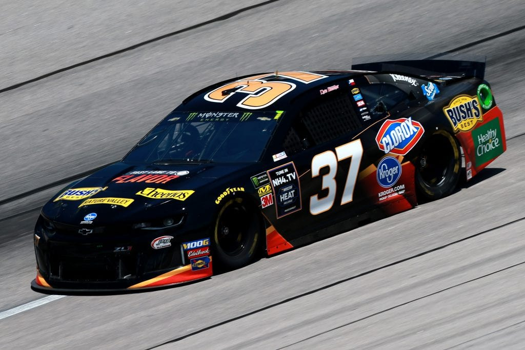 DARLINGTON, SOUTH CAROLINA - AUGUST 30: Chris Buesher, driver of the #37 Kroger Fast Lane to Flavor Chevrolet, practices for the Monster Energy NASCAR Cup Series Bojangles' Southern 500 at Darlington Raceway on August 30, 2019 in Darlington, South Carolina. (Photo by Sean Gardner/Getty Images) | Getty Images