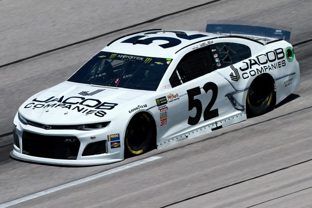 DARLINGTON, SOUTH CAROLINA - AUGUST 30: JJ Yeley, driver of the #52 JACOB Companies Chevrolet, practices for the Monster Energy NASCAR Cup Series Bojangles' Southern 500 at Darlington Raceway on August 30, 2019 in Darlington, South Carolina. (Photo by Sean Gardner/Getty Images) | Getty Images