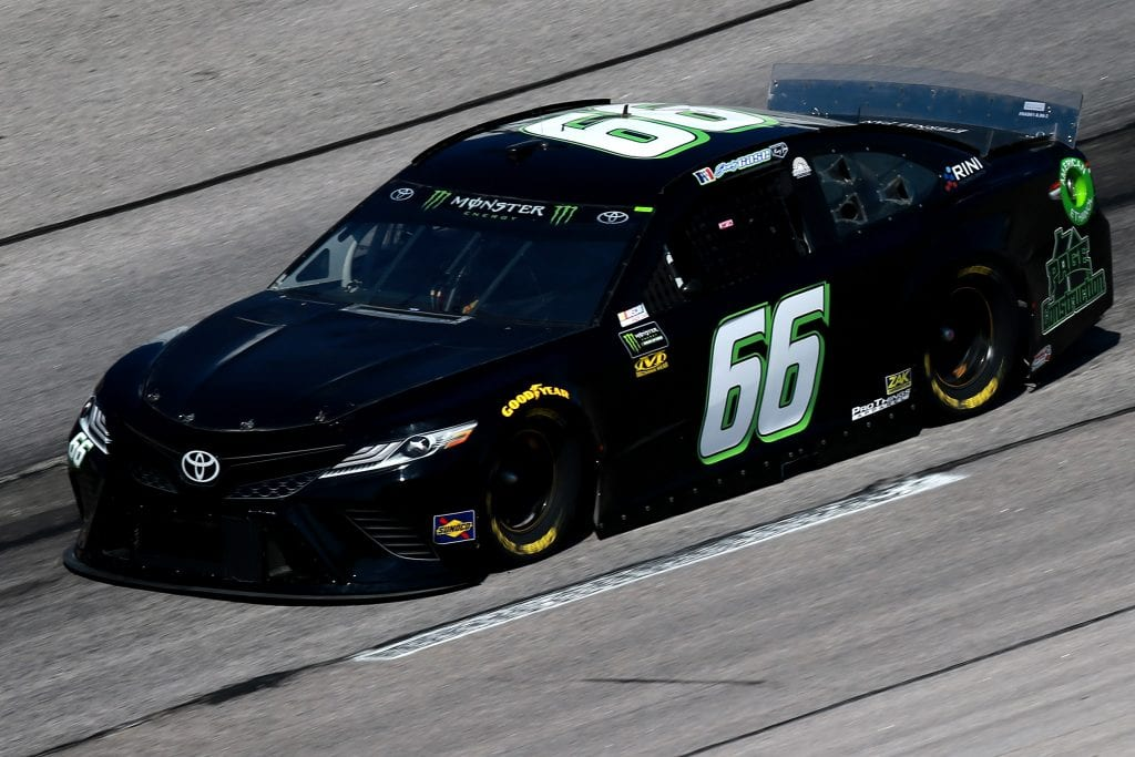 DARLINGTON, SOUTH CAROLINA - AUGUST 30: Joey Gase, driver of the #66 MBM Motorsports Toyota, practices for the Monster Energy NASCAR Cup Series Bojangles' Southern 500 at Darlington Raceway on August 30, 2019 in Darlington, South Carolina. (Photo by Sean Gardner/Getty Images) | Getty Images