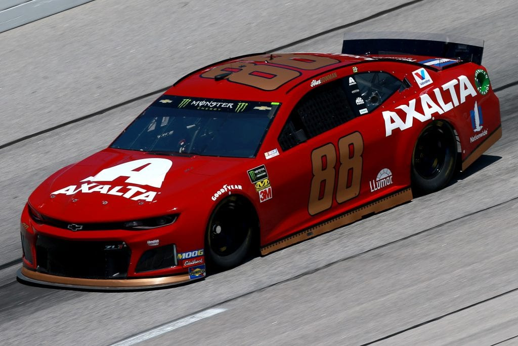 DARLINGTON, SOUTH CAROLINA - AUGUST 30: Alex Bowman, driver of the #88 Axalta Throwback Chevrolet, practices for the Monster Energy NASCAR Cup Series Bojangles' Southern 500 at Darlington Raceway on August 30, 2019 in Darlington, South Carolina. (Photo by Sean Gardner/Getty Images) | Getty Images