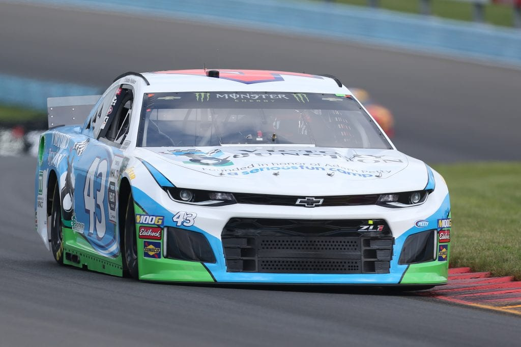 WATKINS GLEN, NEW YORK - AUGUST 03: Bubba Wallace, driver of the #43 Victory Junction Chevrolet, drives during practice for the Monster Energy NASCAR Cup Series Go Bowling at The Glen at Watkins Glen International on August 03, 2019 in Watkins Glen, New York. (Photo by Matt Sullivan/Getty Images) | Getty Images