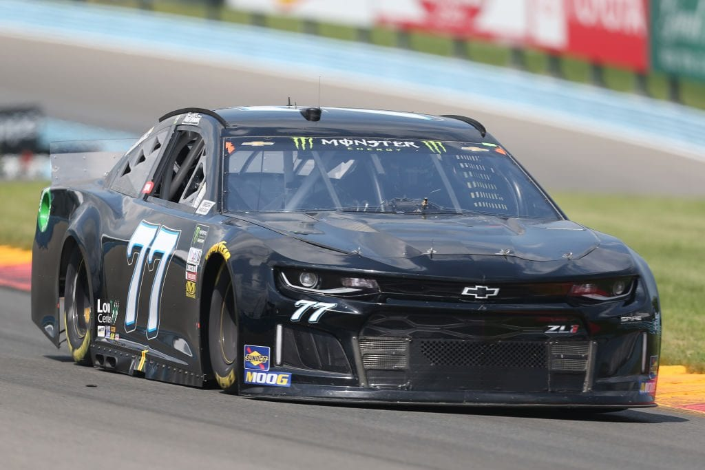 WATKINS GLEN, NEW YORK - AUGUST 03: Justin Haley, driver of the #77 Chevrolet, drives during practice for the Monster Energy NASCAR Cup Series Go Bowling at The Glen at Watkins Glen International on August 03, 2019 in Watkins Glen, New York. (Photo by Matt Sullivan/Getty Images) | Getty Images