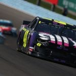 WATKINS GLEN, NEW YORK - AUGUST 04: Jimmie Johnson, driver of the #48 Ally Chevrolet, leads a pack of cars during the Monster Energy NASCAR Cup Series Go Bowling at The Glen at Watkins Glen International on August 04, 2019 in Watkins Glen, New York. (Photo by Brian Lawdermilk/Getty Images) | Getty Images