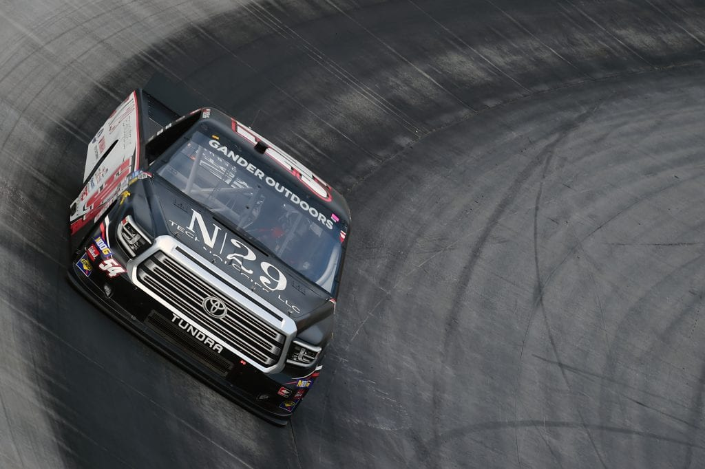 BRISTOL, TENNESSEE - AUGUST 15: Natalie Decker, driver of the #54 N29 Technologies LLC Toyota, practices for the NASCAR Gander Outdoor Truck Series UNOH 200 presented by Ohio Logistics at Bristol Motor Speedway on August 15, 2019 in Bristol, Tennessee. (Photo by Jared C. Tilton/Getty Images) | Getty Images