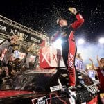 BRISTOL, TENNESSEE - AUGUST 16: Tyler Reddick, driver of the #2 Tame the BEAST Chevrolet, celebrates in Victory Lane after winning the NASCAR Xfinity Series Food City 300 at Bristol Motor Speedway on August 16, 2019 in Bristol, Tennessee. (Photo by Jared C. Tilton/Getty Images) | Getty Images