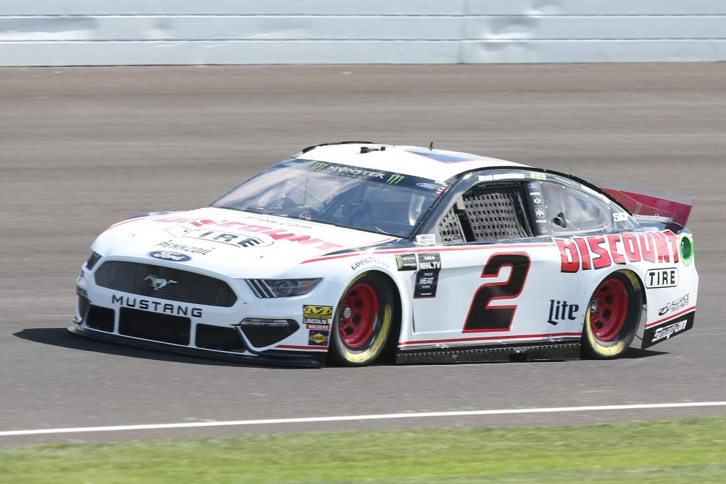 INDIANAPOLIS, INDIANA - SEPTEMBER 07: Brad Keselowski, driver of the #2 Discount Tire Ford, drives during practice for the Monster Energy NASCAR Cup Series Big Machine Vodka 400 at Indianapolis Motor Speedway on September 07, 2019 in Indianapolis, Indiana. (Photo by Matt Sullivan/Getty Images) | Getty Images