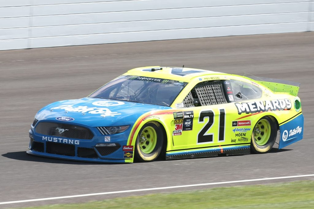 INDIANAPOLIS, INDIANA - SEPTEMBER 07: Paul Menard, driver of the #21 Menards/Dutch Boy Ford, drives during practice for the Monster Energy NASCAR Cup Series Big Machine Vodka 400 at Indianapolis Motor Speedway on September 07, 2019 in Indianapolis, Indiana. (Photo by Matt Sullivan/Getty Images) | Getty Images