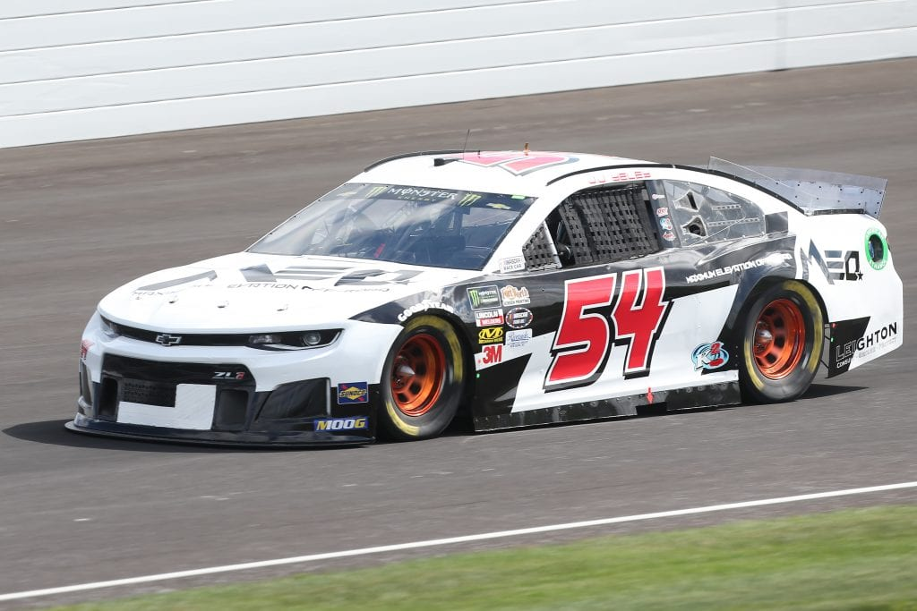 INDIANAPOLIS, INDIANA - SEPTEMBER 07: JJ Yeley, driver of the #54 MAXIMUM ELEVATION Chevrolet, drives during practice for the Monster Energy NASCAR Cup Series Big Machine Vodka 400 at Indianapolis Motor Speedway on September 07, 2019 in Indianapolis, Indiana. (Photo by Matt Sullivan/Getty Images) | Getty Images