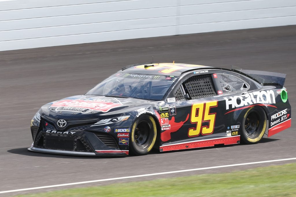 INDIANAPOLIS, INDIANA - SEPTEMBER 07: Matt DiBenedetto, driver of the #95 Horizon Transport Toyota, drives during practice for the Monster Energy NASCAR Cup Series Big Machine Vodka 400 at Indianapolis Motor Speedway on September 07, 2019 in Indianapolis, Indiana. (Photo by Matt Sullivan/Getty Images) | Getty Images