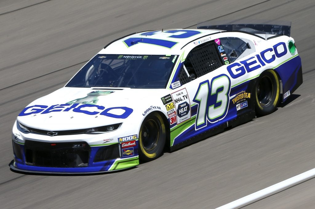 LAS VEGAS, NEVADA - SEPTEMBER 13: Ty Dillon, driver of the #13 GEICO Chevrolet, drives during practice for the Monster Energy NASCAR Cup Series South Point 400 at Las Vegas Motor Speedway on September 13, 2019 in Las Vegas, Nevada. (Photo by Jonathan Ferrey/Getty Images) | Getty Images