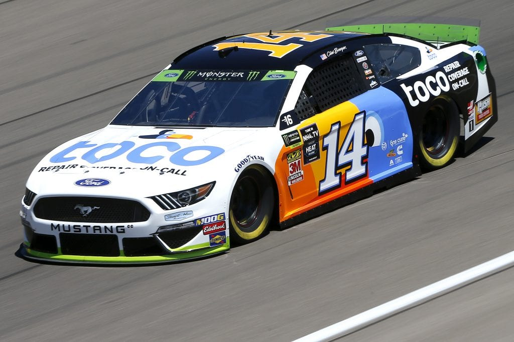 LAS VEGAS, NEVADA - SEPTEMBER 13: Clint Bowyer, driver of the #14 Toco Warranty Ford, drives during practice for the Monster Energy NASCAR Cup Series South Point 400 at Las Vegas Motor Speedway on September 13, 2019 in Las Vegas, Nevada. (Photo by Jonathan Ferrey/Getty Images) | Getty Images